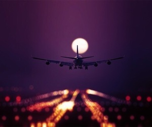 airplane, travel, and photography image