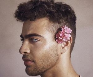flowers, boy, and model image