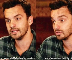 quote, new girl, and tv show image