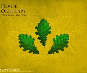 game of thrones, house tyrell, and house oakheart image
