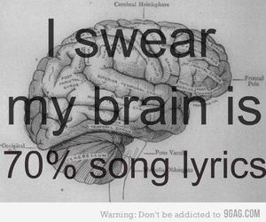 brain, Lyrics, and song image