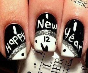 nails, new year, and nail art image