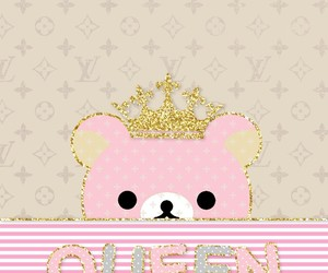 bear, Queen, and glitter image