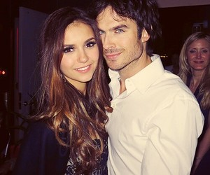 Nina Dobrev, ian somerhalder, and the vampire diaries image