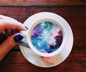 drink, love, and galaxy image