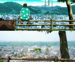 tree, anime landscape, and anohana image