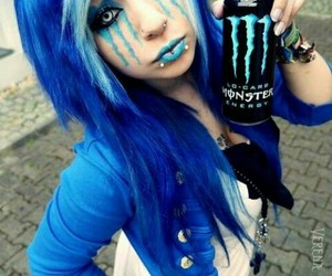 monster, blue, and emo image