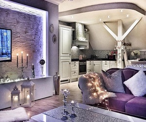 home, design, and light image