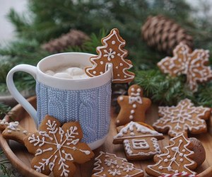 coffe, happy new year, and holiday image