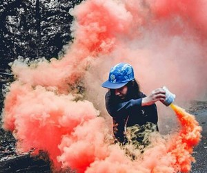 aesthetics, colours, and smoke image
