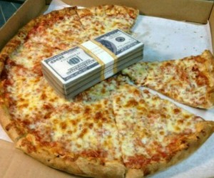 food, money, and pizza image