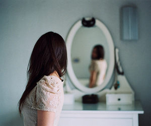 girl, mirror, and indie image
