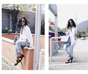 blogger, jeans, and fashion image
