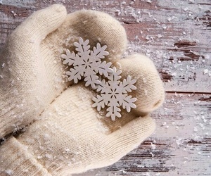 cold, gloves, and snow image