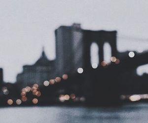 city, light, and bridge image