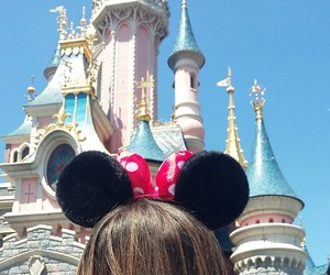 castle, disneyland, and disneylandparis image