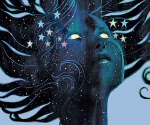art, comics, and galaxy image