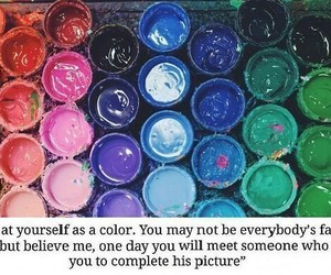 picture, quote, and rainbow image