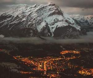 mountains, travel, and city image