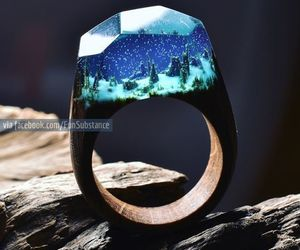 ring and wood image