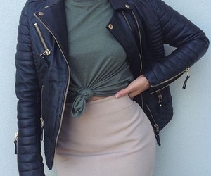 leather jacket and outfit image