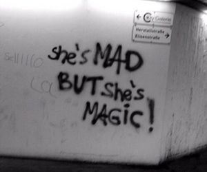 mad, black and white, and quotes image