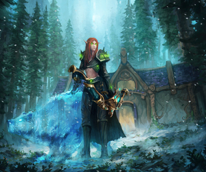 blood elf, wallpaper, and world of warcraft image