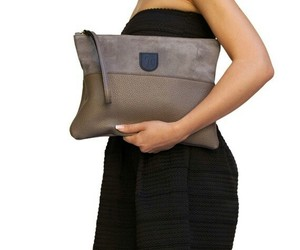 clutch, handmade, and leather image