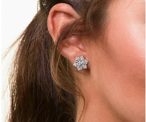 earrings, snowflakes, and fashion image