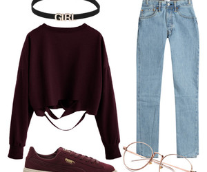 burgundy, style, and clothes image