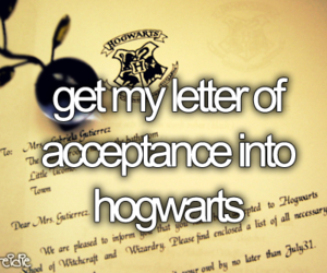 hogwarts, Letter, and before i die image