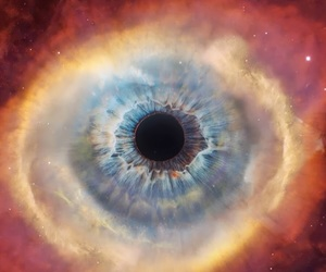 cosmos, eye, and space image