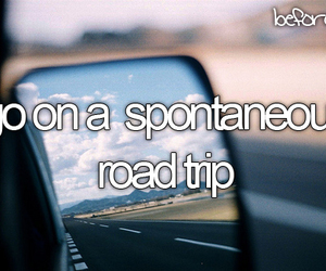 before i die, Road Trip, and bucket list image