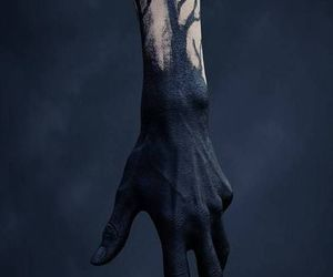 black, hand, and dark image