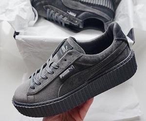 puma, grey, and shoes image