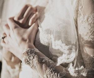 dress, bride, and vintage image