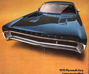 ad, car, and Plymouth Fury image