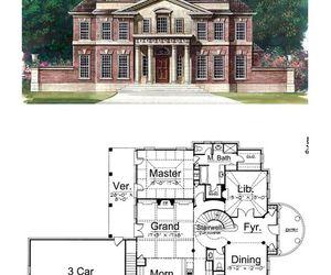 blueprints, greek, and house image