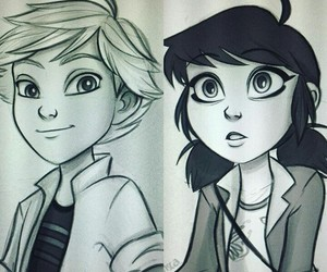 Adrien, marinette, and angie nasca image