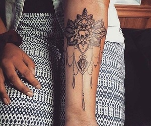 tattoo, tattoo girl, and get ink image