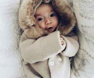baby, beautiful, and winter image