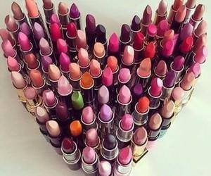 lipstick, makeup, and heart image