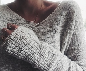 sweater, winter, and grey image