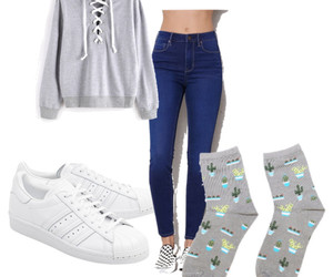 adidas, outfit, and socks image