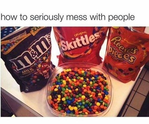 skittles, funny, and m&m's image