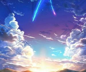 anime, your name, and sky image