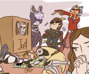Anakin Skywalker, funny, and obi wan kenobi image