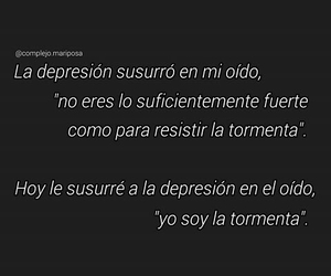 frases, fuerte, and depresion image