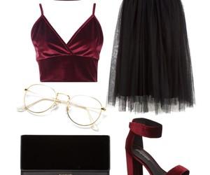 Balmain, black, and burgundy image