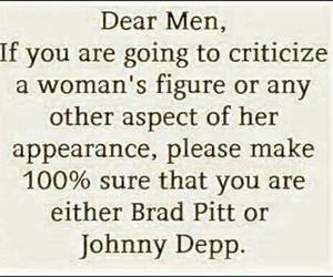 brad pitt, johnny depp, and quote image